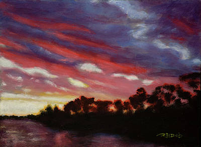 Beautiful Painting - Vaal River Sunset by Christopher Reid