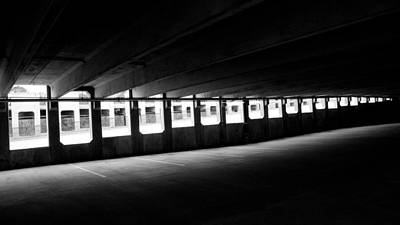Vacant Parking Garage Art Print by Ahmed Hashim