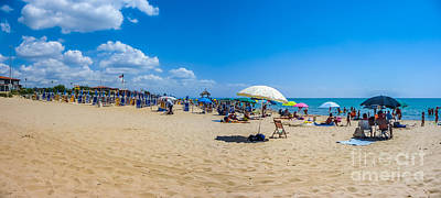 Basilicata Photograph - Vacation Beach With Beachchairs And Sunshades On A Sunny Day by JR Photography