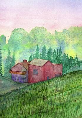 Scenic Painting - Vacation Home by Mary Ellen Frazee