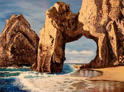 Tourist Site Painting - Vacation In Cabo San Lucas Mexico by Carole Sluski