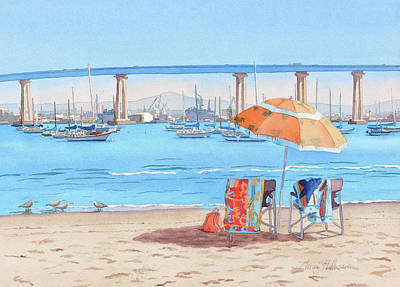 Painting - Vacation In Coronado California by Mary Helmreich