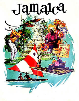 Golf Art Painting - Vacation In Jamaica, Travel Poster by Long Shot