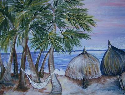 Art Print featuring the painting Vacation by Leslie Manley
