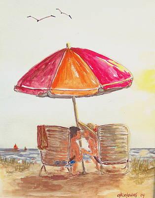 Vacation Art Print by Miroslaw  Chelchowski