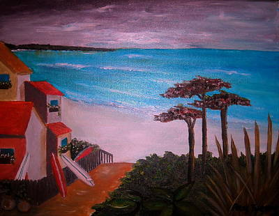 Surfing Painting - On Vacation by Pristine Cartera Turkus
