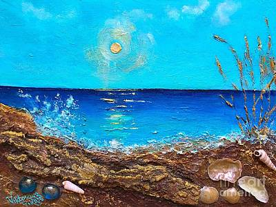 Glads Painting - Vacational Paradise  by Viktoriya Sirris