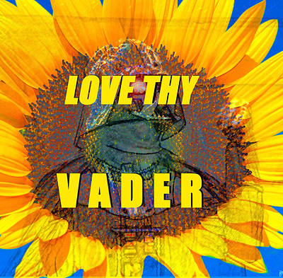 Painting - Vader Love Retro T Design by David Lee Thompson