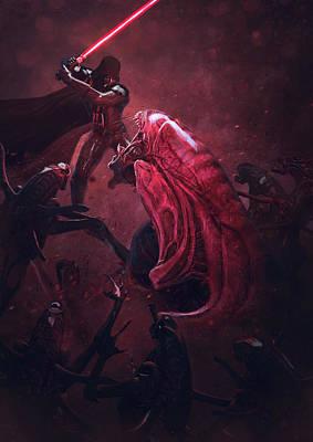 Vader Vs Aliens 5 Art Print