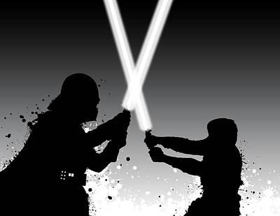 Alliance Digital Art - Vader Vs Luke by Nathan Shegrud