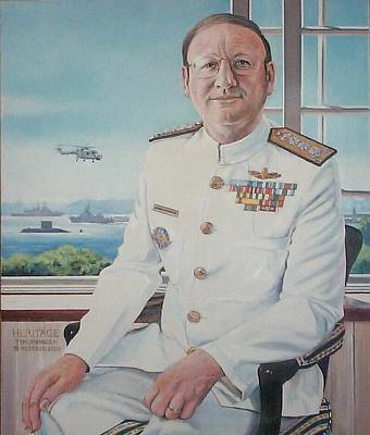 Painting - Vadm Robert Claude Simpson-anderson by Tim Johnson