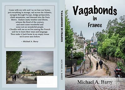 Sacre Coeur Photograph - Vagabonds In France Book Cover, Front And Back by Liesl Walsh