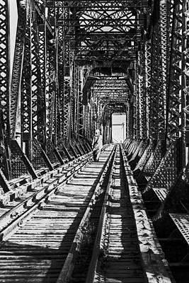 Vagrant On Bridge Art Print by Don Wolf