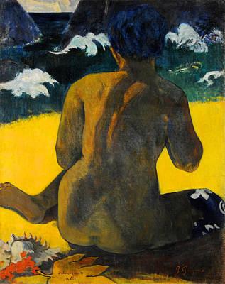 Female Painting - Vahine No Te Miti, Woman At The Sea by Paul Gauguin
