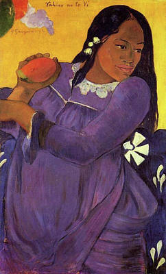 Impressionism Painting - Vahine No Te Vi, Woman With Mango by Paul Gauguin