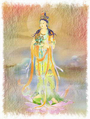 Vaidurya  Kuan Yin 1 Print by Lanjee Chee