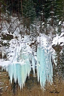 Vail Ice Falls Art Print by David Salter