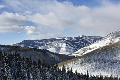 Summit County Colorado Photograph - Vail Valley From Ski Slopes by Brendan Reals