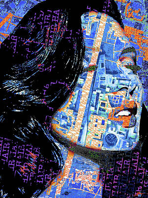 Art Print featuring the mixed media Vain by Tony Rubino