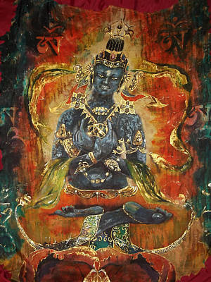 Buddhist Painting - Vajradhara by Silk Alchemy