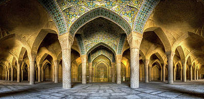 Photograph - Vakil Mosque Panorama by Mohammad Reza Domiri Ganji