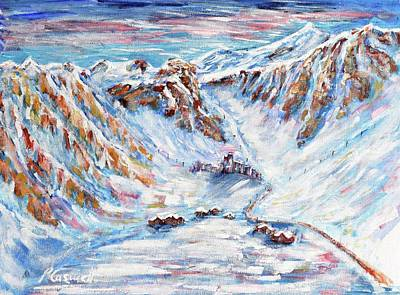 Painting - Val Claret Tignes by Pete Caswell