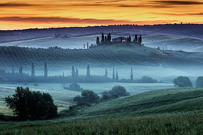 Pyrography - Val D'orcia by Evgeni Dinev