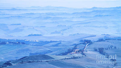 Val D'orcia In The Frost Art Print by Alessandro Landi