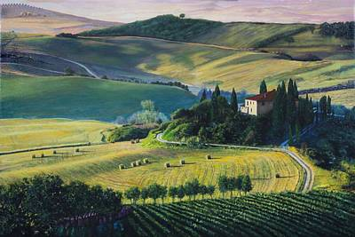 Painting - Val D'orcia by Richard Barone