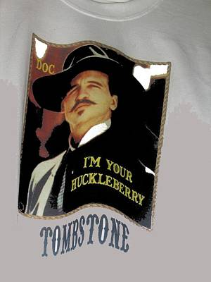 Val Kilmer Wall Art - Photograph - Val Kilmer As Doc Holliday  Tombstone T Shirts Window Display Tombstone Arizona 2004-2015 by David Lee Guss