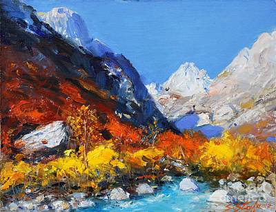 Painting - Valbona by Sefedin Stafa