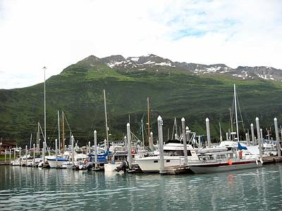 Valdez Alaska Marina Art Print by Adam Owen