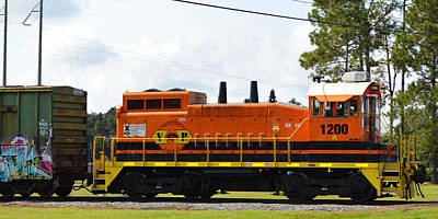 Photograph - Valdosta Railway Train Engine 1200 by rd Erickson
