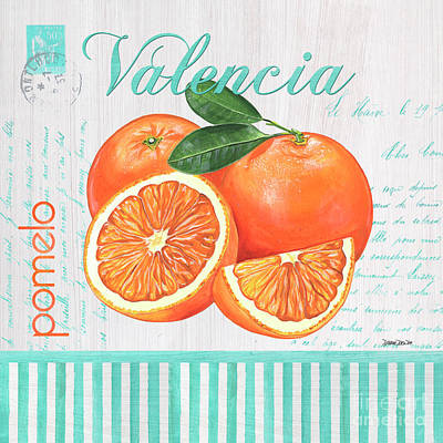 Tropical Fruit Painting - Valencia 1 by Debbie DeWitt