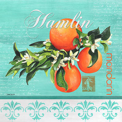 Tropical Fruit Painting - Valencia 2 by Debbie DeWitt