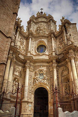 Architecture Photograph - Valencia Cathedral Facade  by Carol Japp