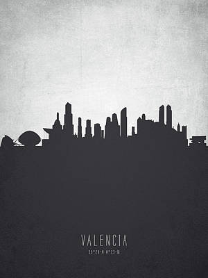 Spain Painting - Valencia Spain Cityscape 19 by Aged Pixel