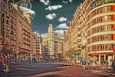Sundays Digital Art - Valencia - Sunday Morning After Christmas  by Mary Machare