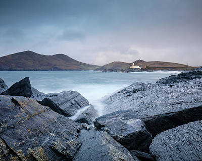 Photograph - Valentia Island Lighthouse by Peter McCabe