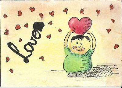 Valentine Aceo Card Original