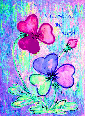 Painting - Valentine Be Mine by Hazel Holland