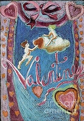 Painting - Valentine Cherubs by Genevieve Esson