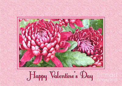 Digital Art - Valentine Chrysanthemums by JH Designs