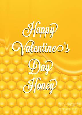 Digital Art - Valentine Dripping Honey by JH Designs