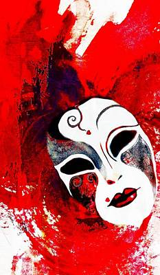 Painting - Valentine For Mardi Gras by Barbara Chichester