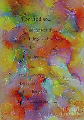 Painting - Valentine From God by Hazel Holland