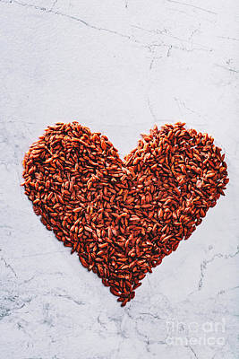 Photograph - Valentine Heart Made Of Goji Berries. Superfood. by Michal Bednarek