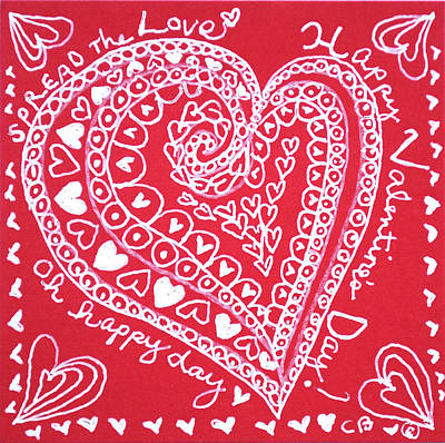 Drawing - Valentine Heart by Carole Brecht