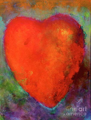 Painting - First Love. Valentine Heart.  by Robert Birkenes