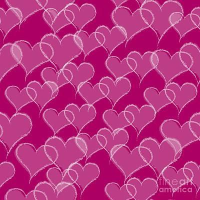 Edward Hopper - Valentine Hearts Pattern by Anne Kitzman